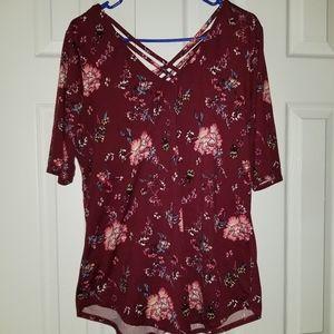 Crisscross strap shirt
